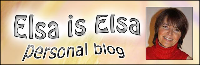 Elsa is Elsa, personal blog posts